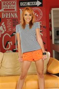 Nataly Von skinny redhead gets screwed on the couch from 21 Sextury