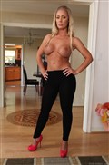 Nicole Aniston gets cum on her sexy spandex from evilangel