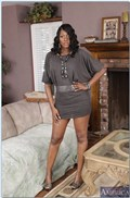 Nyomi Banxxx rides a white dick on the couch in lingerie from Naughty America