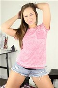 Remy LaCroix gives a hot blowjob in blue panties Picture 01