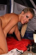 Samantha Saint gets drilled outdoors while camping in a tent from Wicked
