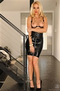 Sandy toys in latex skirt and sheer black lingerie Picture 11