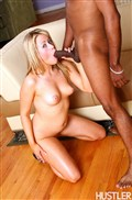 Sindee Jennings little blonde girl screws a big black cock from Hustler