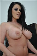 Sophie Dee shows her big tits and gets nailed on a stool from evilangel