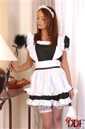 Housekeeper Sophie Lynx gets whipped by Aleska Diamond from DDF Prod