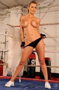 Tanya Tate fingers her Pussy in the Boxing Ring Picture 11