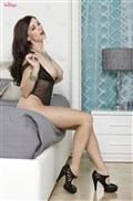 Taylor Vixen rubs her pussy in black lingerie and heels from Twisty's