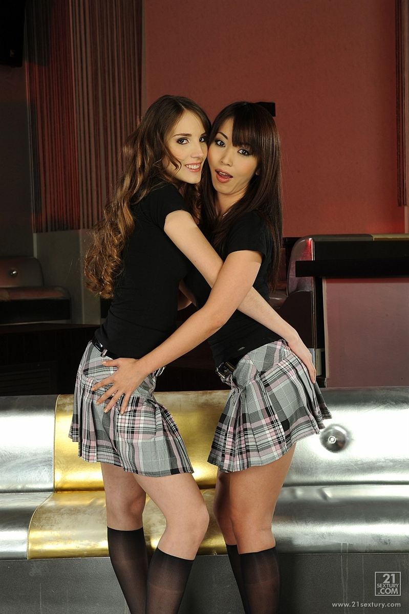 Tina Blade and Marica Hase get ass banged in plaid skirts Main Image