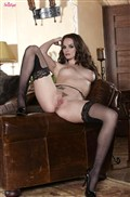 Tori Black looks so hot in white lingerie and stockings