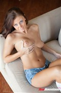 Whitney Westgate gets nailed on the couch in pink panties